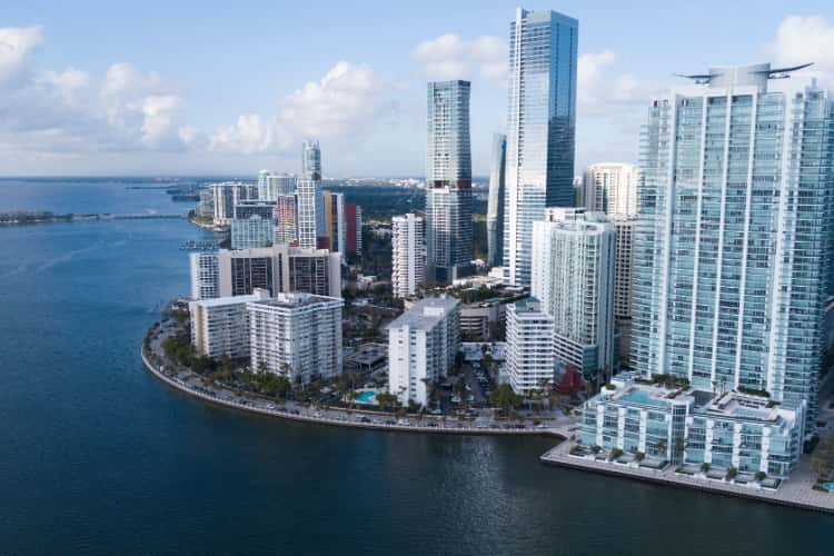 Brickell District in Miami, Florida