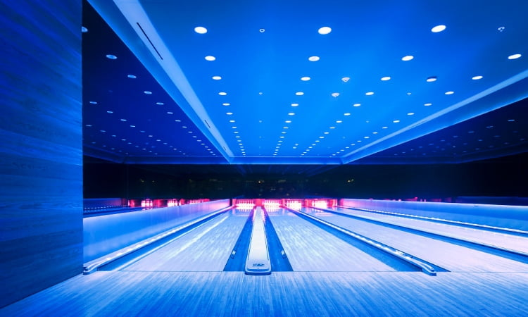bowling alley in basement miami edition hotel