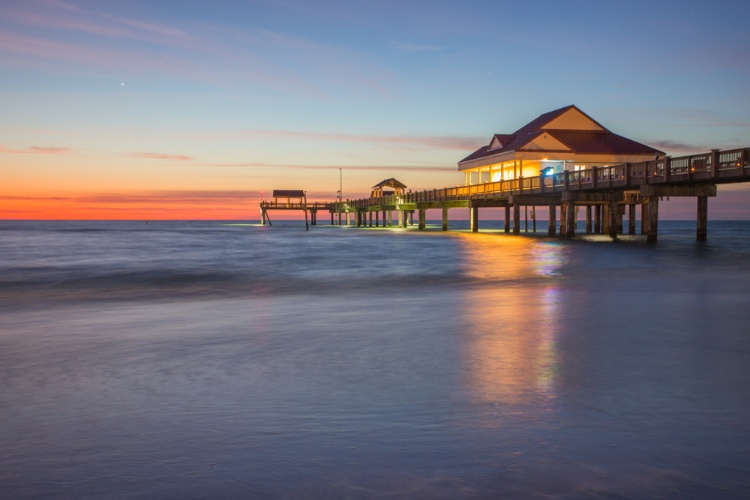 Pier 60 at Clearwater Beach at sunset