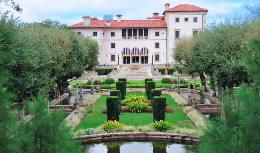 The gardens and villa of Vizcaya