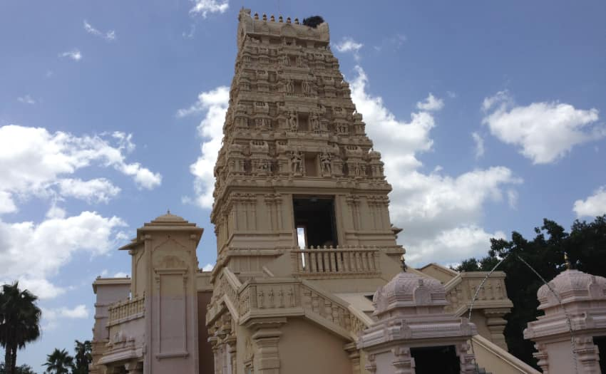 The tower of the Hindu Temple of Florida