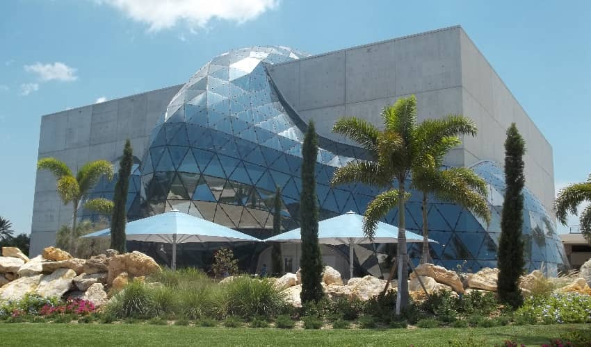 The exterior of the Salvador Dali Museum near Tampa
