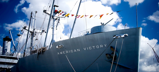 the American Victory Ship and Museum in Tampa Bay